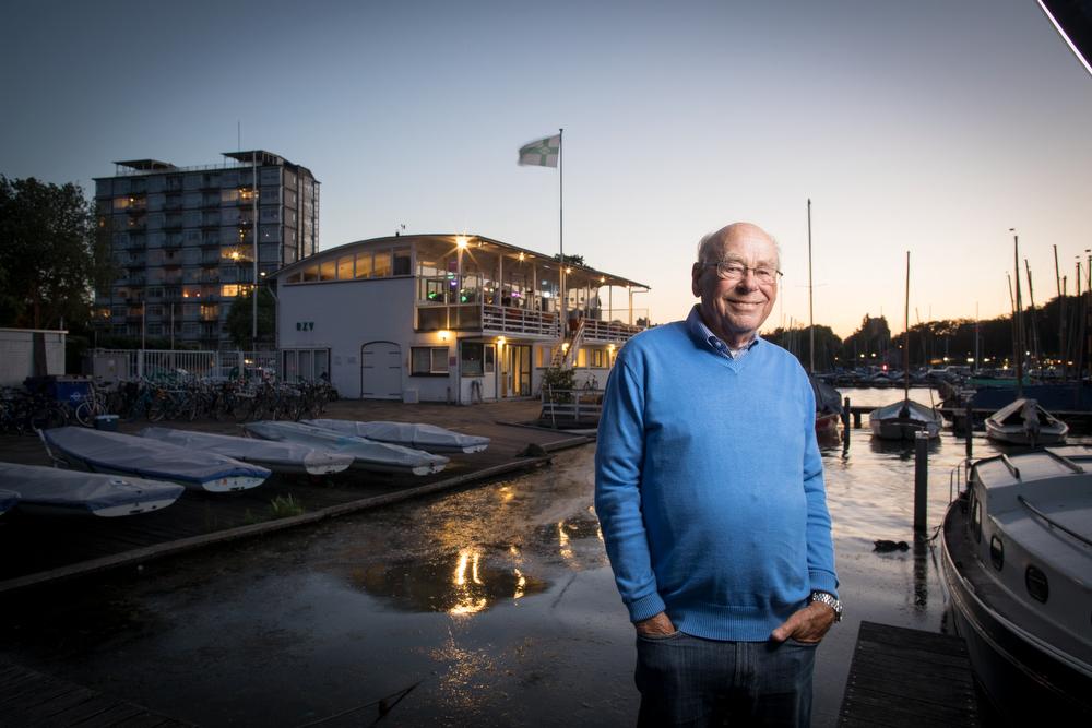 Han vertelt over zijn historie bij de Rotterdamsche Zeilvereeniging