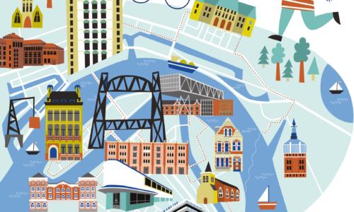Download onze nieuwe routes door Rotterdam!